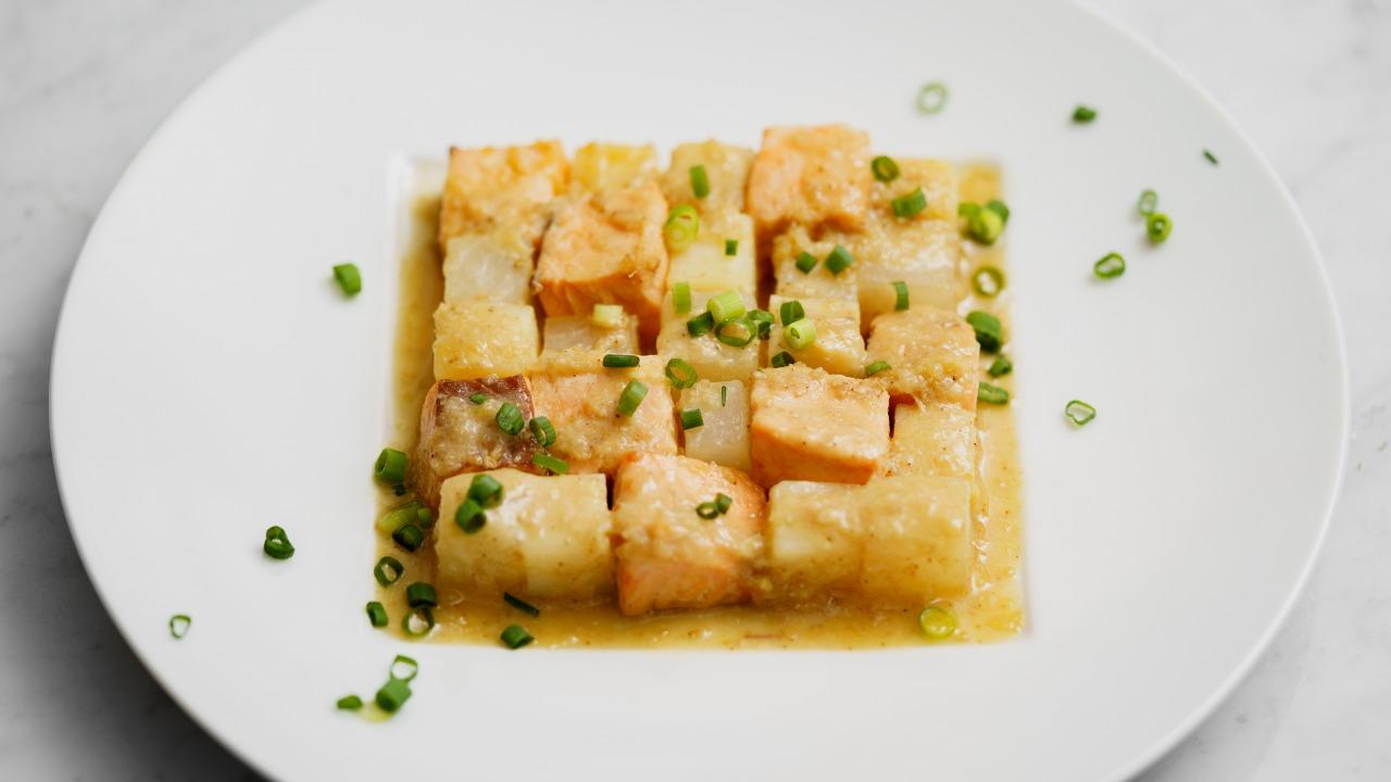 鮭の味噌生姜バター焼き