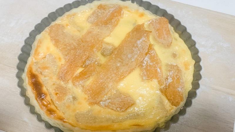 干し芋たっぷりエッグパイ